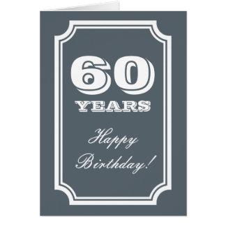 60. Geburtstagskarte für 60 Jahre alte Mann oder Karte