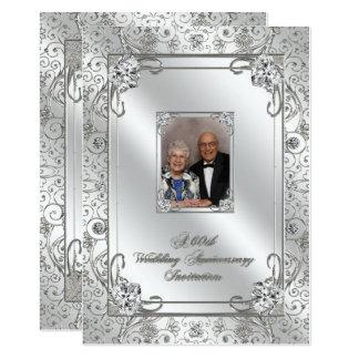 60. Hochzeits-Jahrestags-Foto-Einladungs-Karte 12,7 X 17,8 Cm Einladungskarte