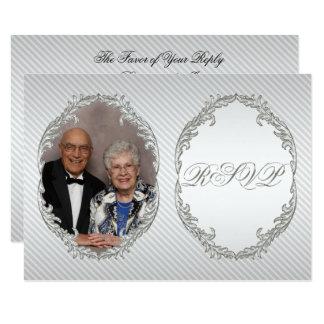 60. Hochzeits-Jahrestags-Foto UAWG Karte 8,9 X 12,7 Cm Einladungskarte