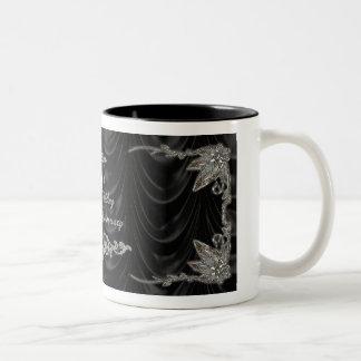 60. Hochzeits-Jahrestags-Tasse Zweifarbige Tasse