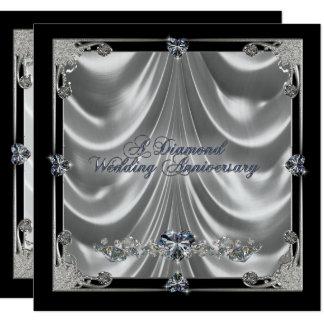 60. Hochzeitstag-Einladungs-Karte Quadratische 13,3 Cm Einladungskarte