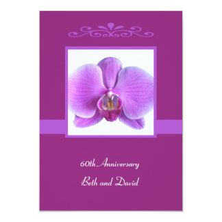 60. Hochzeitstag-Einladungs-Orchidee 12,7 X 17,8 Cm Einladungskarte