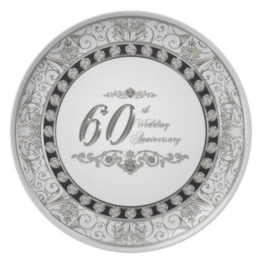 60. Hochzeitstag-Melamin-Platte Melaminteller