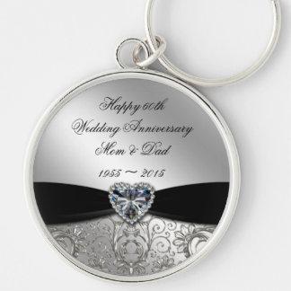 60. Hochzeitstag-Schlüsselkette Schlüsselanhänger