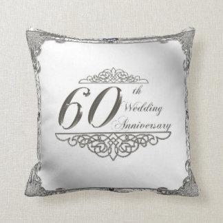60. Hochzeitstag-Wurfs-Kissen Zierkissen