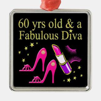 60 JAHRE ALT U. BLENDENdiva A Silbernes Ornament