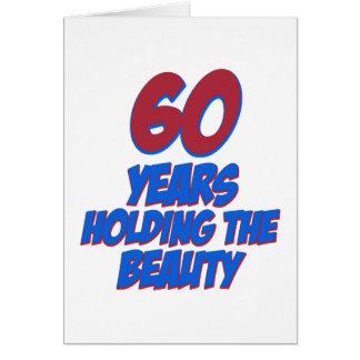 60 Jahre alte Geburtstagsentwürfe Karte