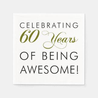 60 Jahre des Seins feiern fantastisch Serviette