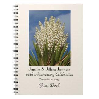 60. Jahrestags-Party-Gast-Buch, blühender Yucca Notizblock