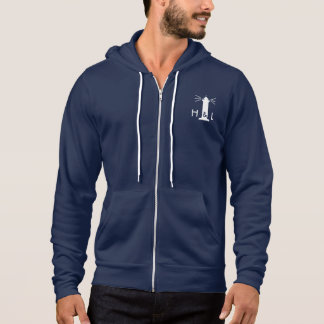 $60 Mann-Marine-Blau-besserer ZipHoodie - H&L Hoodie