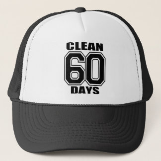 60 Tage säubern Schwarzweiss-Hut Truckerkappe