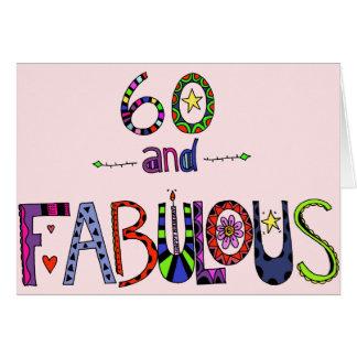 60 und fabelhafter 60. Geburtstag Grußkarte