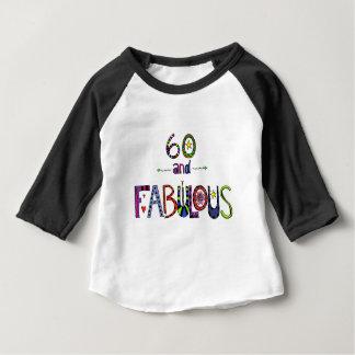 60 und fabelhaftes, 60 Jahre alt, 60. Geburtstag Baby T-shirt