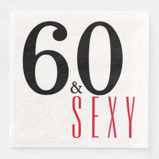 60. und sexy Geburtstags-Party Servietten