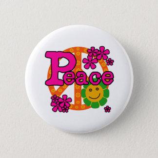 60er Art-Frieden Runder Button 5,7 Cm