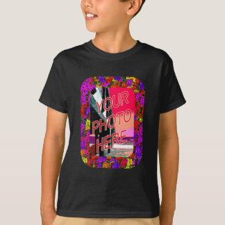 60er Blumen-Rahmen-Vorlagen T-Shirt