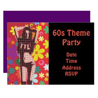 60erthema-Blumen-Power-Party Karte