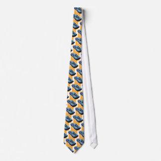 63_Split Window_BlueYellow Kasten Bedruckte Krawatte