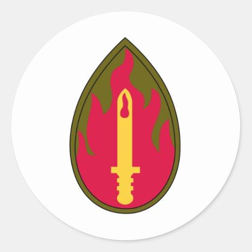 63th Infanterie-Regiment-Militär bessert aus Runder Aufkleber