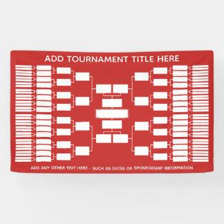 64 Team - Turnier-Klammer - kann Farbe ändern Banner