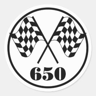 650 Zielflaggen Runder Sticker