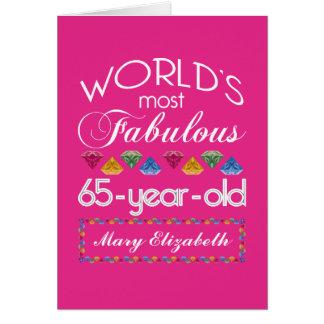65. Geburtstag das meiste fabelhafte bunte Grußkarte