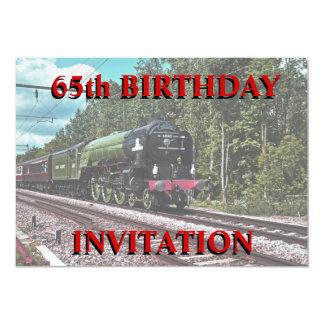 65. Geburtstags-Einladung 12,7 X 17,8 Cm Einladungskarte