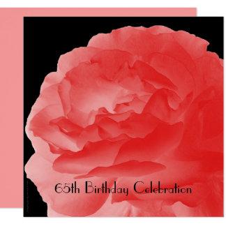 65. Geburtstags-Feier-Einladungs-Korallen-Rose Karte