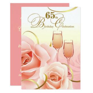 65. Geburtstags Feier Gewohnheits Einladungen Karte