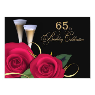 65. Geburtstags-Feier-Gewohnheits-Einladungen Karte
