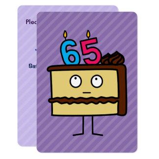65. Geburtstags Kuchen Mit Kerzen Karte