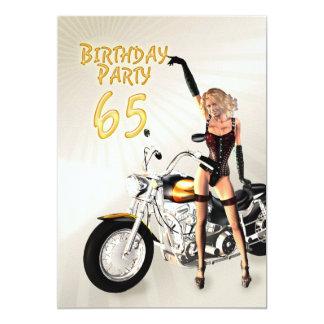 65. Geburtstags-Party Einladung