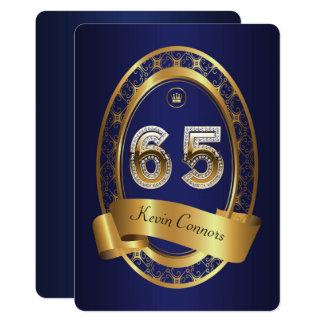 65., Geburtstags-Party-Frauenmann, elegante Farbe Karte