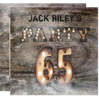65. Geburtstags-Party in den Lichtern und im Nebel Karte