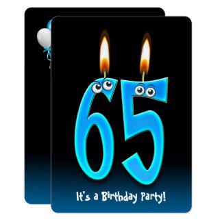 65. Geburtstags-Party mit Augäpfeln Karte