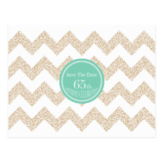 65. Geburtstags-Party - Save the Date - wählen Sie Postkarte