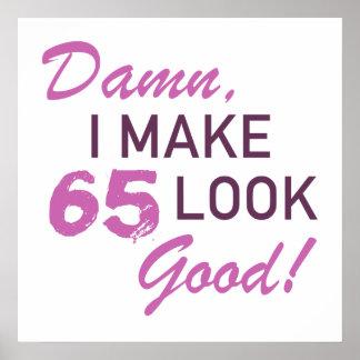 65. Geburtstags-Spaß Poster