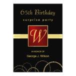 65. Geburtstags-Überraschungs-Party - elegantes 12,7 X 17,8 Cm Einladungskarte