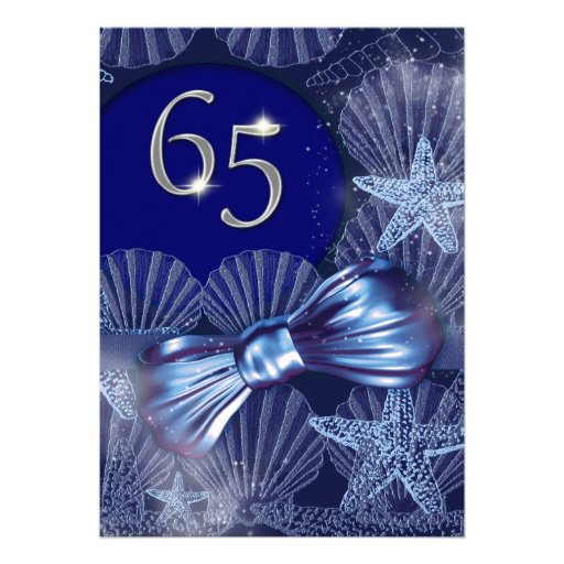 65. Geburtstagsfeier-Partymajor FERTIGEN besonders Einladungskarten