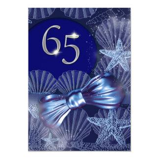 65. Geburtstagsfeier-Partymajor FERTIGEN besonders 12,7 X 17,8 Cm Einladungskarte