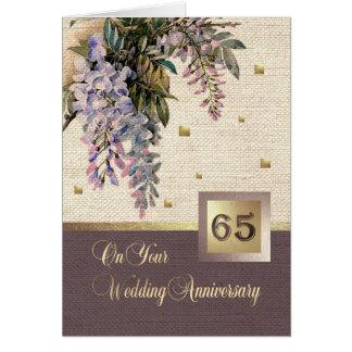 65. Hochzeitstag-Gruß-Karten Karte