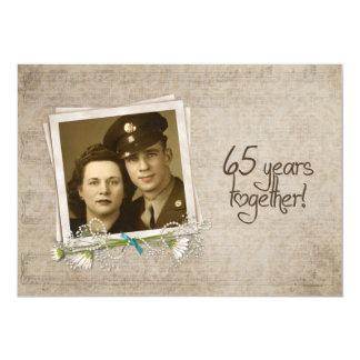 65. Hochzeitstag-offenes Haus 12,7 X 17,8 Cm Einladungskarte