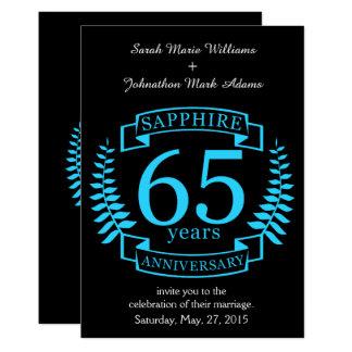 65. Hochzeitstag SAPHIR Karte