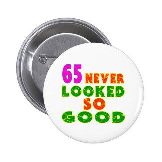 65 nie geschaute so gute Geburtstags-Entwürfe Anstecknadelbuttons