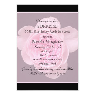 65. Überraschungs-Geburtstags-Party 12,7 X 17,8 Cm Einladungskarte