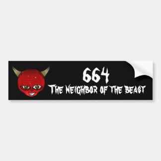 664 der Nachbar des Tieres Autoaufkleber