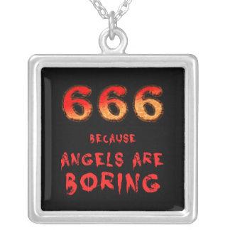 666 VERSILBERTE KETTE