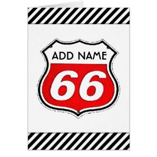 66. Geburtstag Karte