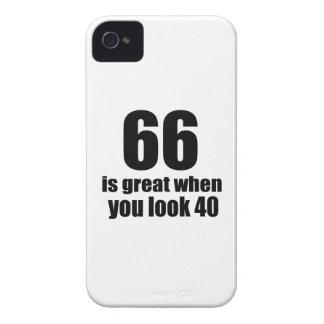 66 ist groß, wenn Sie Geburtstag schauen iPhone 4 Cover