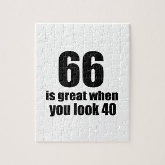 66 ist groß, wenn Sie Geburtstag schauen Puzzle